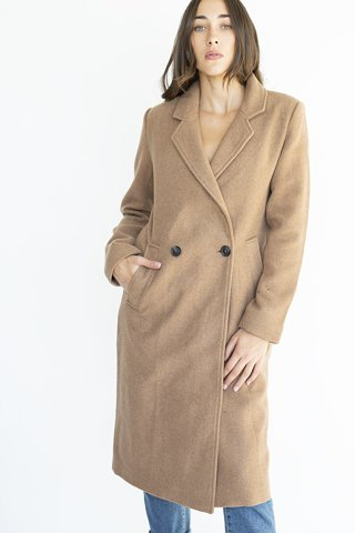 "Picture of Double Breasted Coat in Camel ""Camilla"""