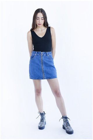 """Picture of Mini Jean Skirt """"Sofie"""" in Blue"""