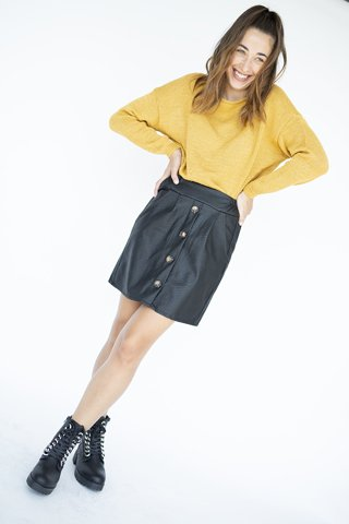 """Picture of Faux leather Mini Skirt """"Clary"""""""