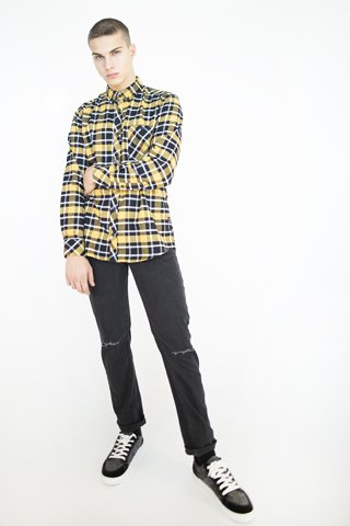 Picture of Men's Check Shirt ''Oliver '' Yellow
