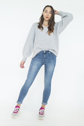 "Picture of Jean Pant ""Valeria"" in Blue"