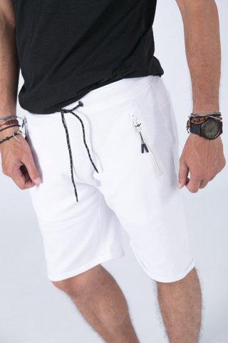 """Εικόνα της Ανδρική Αθλητική Βερμούδα """"Noris"""" Λευκό Χρώμα"""
