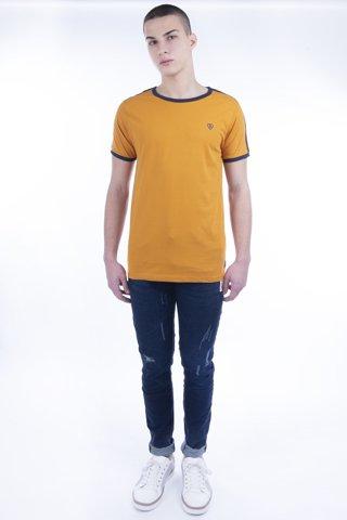"""Εικόνα της Ανδρικό T-Shirt Κοντομάνικο """"Shoulder Stripe"""" Πορτοκαλί"""