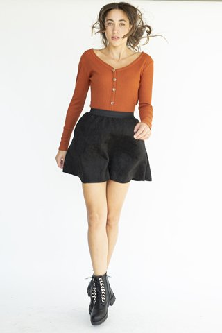 """Picture of Mini Skirt """"Mary"""" in Black"""