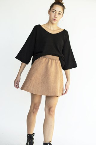 """Picture of Mini Skirt """"Mary"""" in Brown"""
