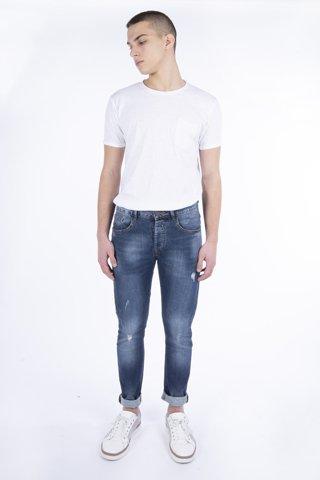 """Εικόνα της Ανδρικό Denim Παντελόνι """"F-(M1415)"""" Blue Denim"""