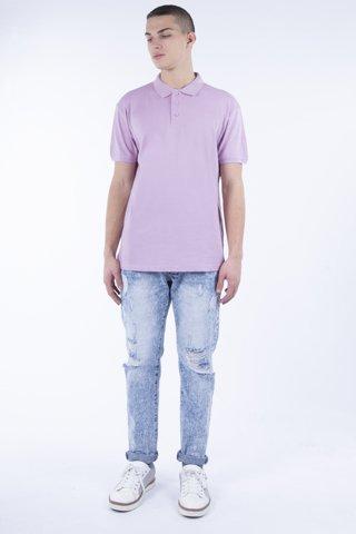 Εικόνα της Ανδρική Μπλούζα Πόλο basic Κοντομάνικη  ''Mike'' Μωβ