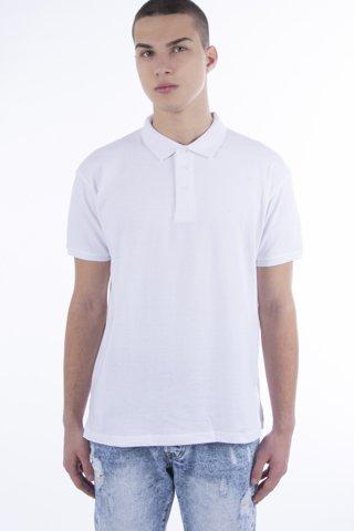 Εικόνα της Ανδρική Μπλούζα Πόλο basic Κοντομάνικη  ''Mike'' Λευκό
