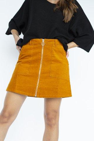 "Picture of Corduroy Mini Skirt ""Tara"" in Orange"