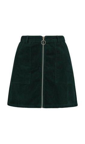"Picture of Corduroy Mini Skirt ""Tara"" in Green"