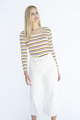 "Picture of Women's Corduroy Trousers ""Cordaly"" in White"