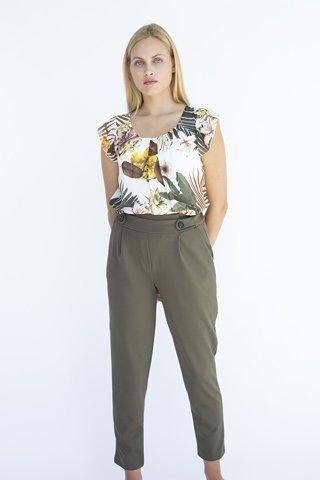 """Εικόνα της Γυναικείο Παντελόνι """"Venizia"""" σε Πράσινο Χρώμα"""