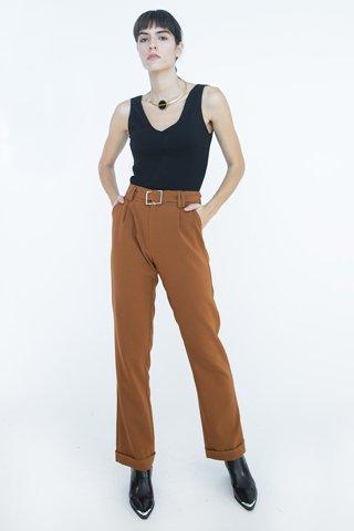 Εικόνα της Γυναικείο Παντελόνι Καμπάνα σε Κάραμελ Χρώμα