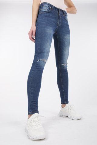 "Picture of Jean Pants ""Wiona"" in Blue Denim"
