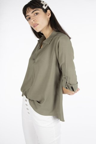 "Picture of Blouse ""Sila"" in Khaki"