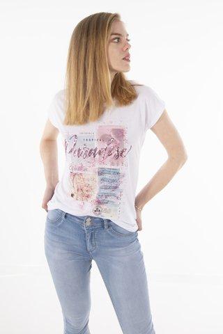"""Εικόνα της ΓυναικείοT-Shirt """"Evelin"""" Λευκό Χρώμα"""