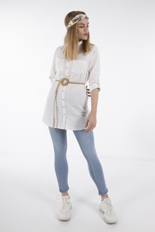 "Picture of Ladies Shirt ""Larissa"" White"