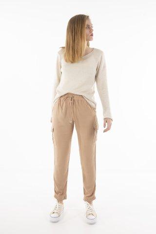 """Εικόνα της Γυναικείο Παντελόνι """"Rika"""" Μπεζ Χρώμα"""