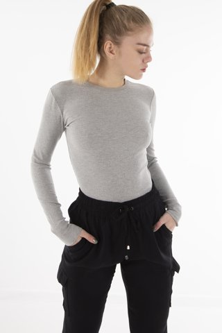 "Picture of Women's Long Sleeve Blouse ""Larissa"" in Grey Melange"