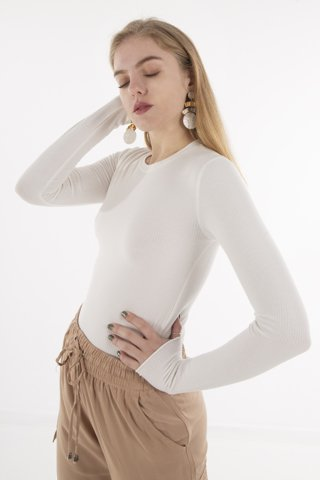 "Picture of Women's Long Sleeve Blouse ""Larissa"" in Off-White"