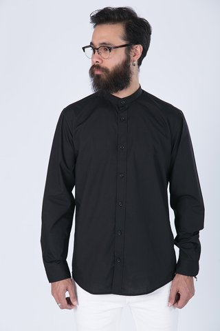 "Picture of Men's Shirt ""Mao"" in Black"