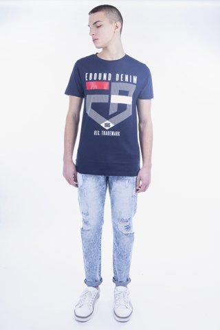 """Εικόνα της Ανδρικό T-Shirt Κοντομάνικο με Τύπωμα """"Denim"""""""