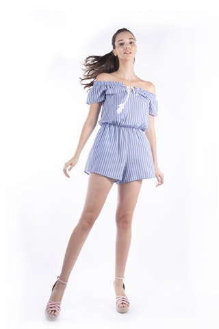 "Picture of Striped Jumpsuit ""Lia"" in Blue Navy"
