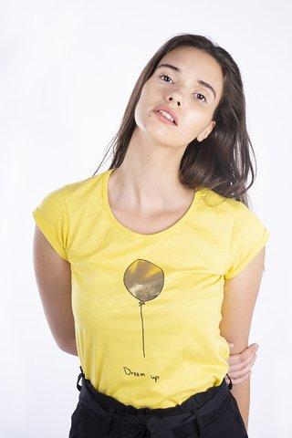 """Εικόνα της Γυναικείο T-Shirt """"Balloons"""" σε Κίτρινο Χρώμα"""