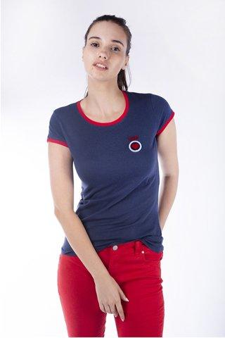 Εικόνα της Γυναικείο T-Shirt σε Σκούρο Μπλε Χρώμα