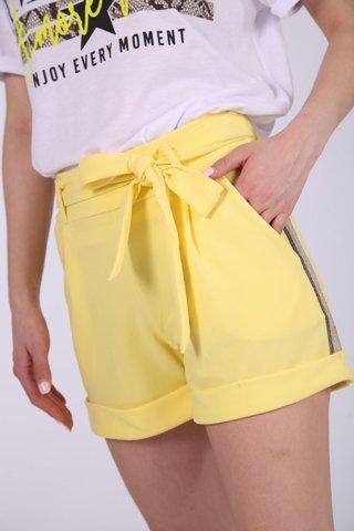 """Εικόνα της Γυναικείο Σορτς """"Emmy"""" σε Κίτρινο Χρώμα"""
