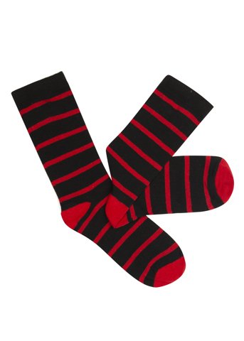 """Εικόνα της Basic Σετ Ανδρικές Κάλτσες """"Colored"""" Ριγέ σε Μπορντώ Χρώμα"""