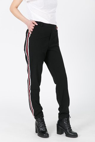 "Picture of Trousers with side Stripes ""Fenja"" in Black"