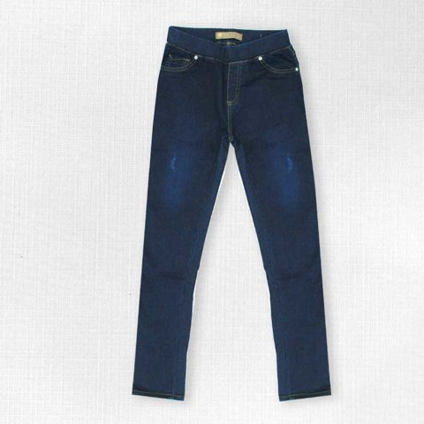 Picture of Womens jean pants in blue denim