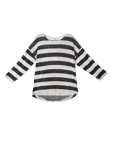 "Picture of Striped T-Shirt ""Mena"" in Black"