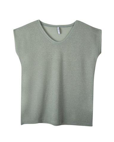 """Εικόνα της Γυναικείο T-Shirt Κοντομάνικο""""Luxy"""" σε Μέντα Χρώμα"""