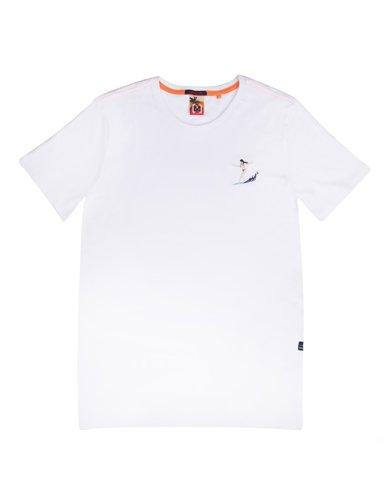 """Εικόνα της Ανδρικό Κοντομάνικο T-Shirt """"Surfin Pin Up"""" σε Χρώμα Λευκό"""