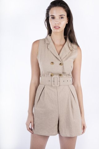 "Picture of Jumpsuit Shorts ''Leah"" in Beige"