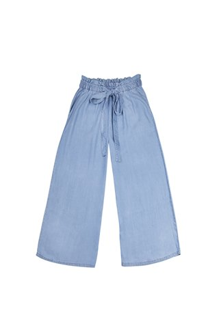 "Picture of Culotte Trousers ""Tanny"" in Blue Melange"