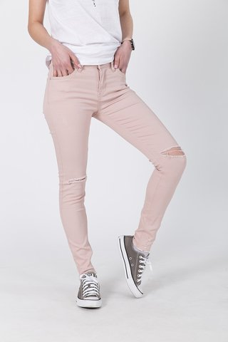 "Picture of Basic Slim Fit Jeans ""Luzi"" in Pink"