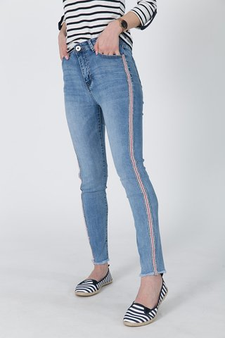 "Picture of Basic Jean ""Cinzia"" in Blue"