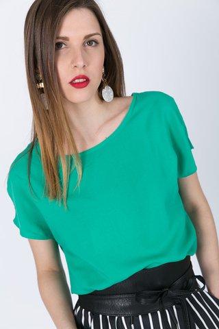 """Εικόνα της Γυναικείο Κοντομάνικο Τοπ """"Fiona"""" σε Πράσινο Χρώμα"""