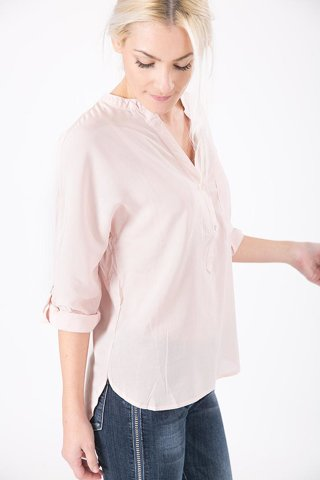 "Picture of Long Blouse-Shirt ""FLorie"" in Nude"