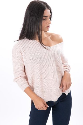 "Picture of Open-Knit Sweater ""Philine"" in Rose Melange"