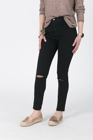 "Picture of Basic Slim Fit Jeans ""Celia"" in Black"