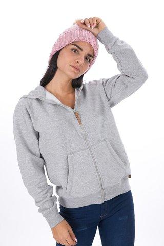 """Picture of  Ladies Cardigan Sweatshirt """"Lola"""" in Grey Melange"""