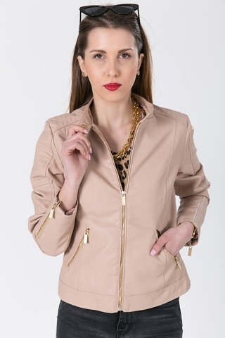 "Picture of Faux Leather Jacket ""Vivian"" in Pink"