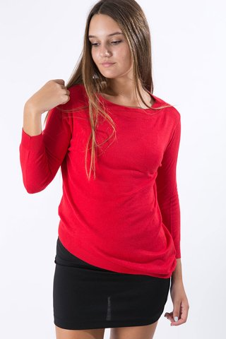 "Picture of Women's 3/4 Sleeve Blouse ""Carol"" in Red"
