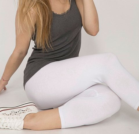 "Picture of Leggings 3/4 ""Fiona"" in white"