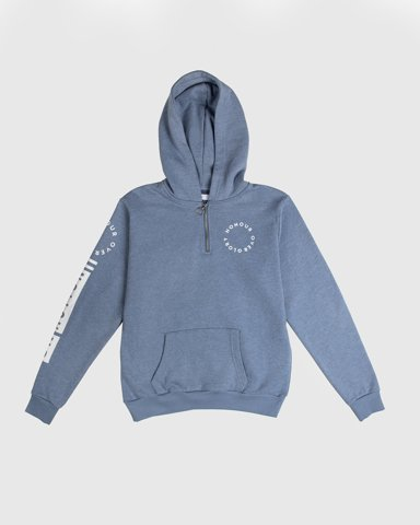 """Picture of Women's Hoodie """"Honour Over Glory"""" in Blue Light"""