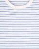 """Ανδρικό Κοντομάνικο T-Shirt """"Kane"""" σε Χρώμα Λευκό-Σκούρο Μπλε"""